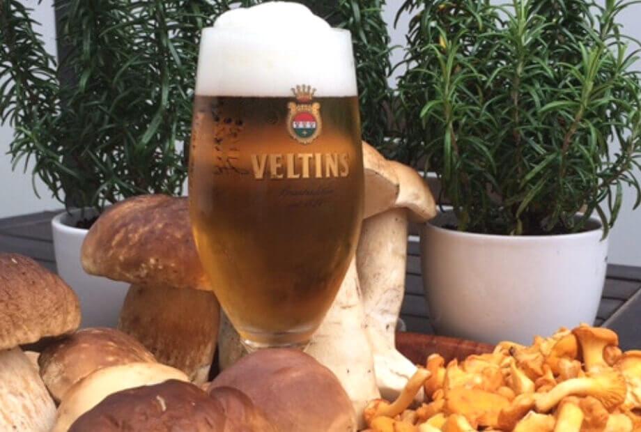 Kulinarischer Genuss im Herbst - Pilze und Pils