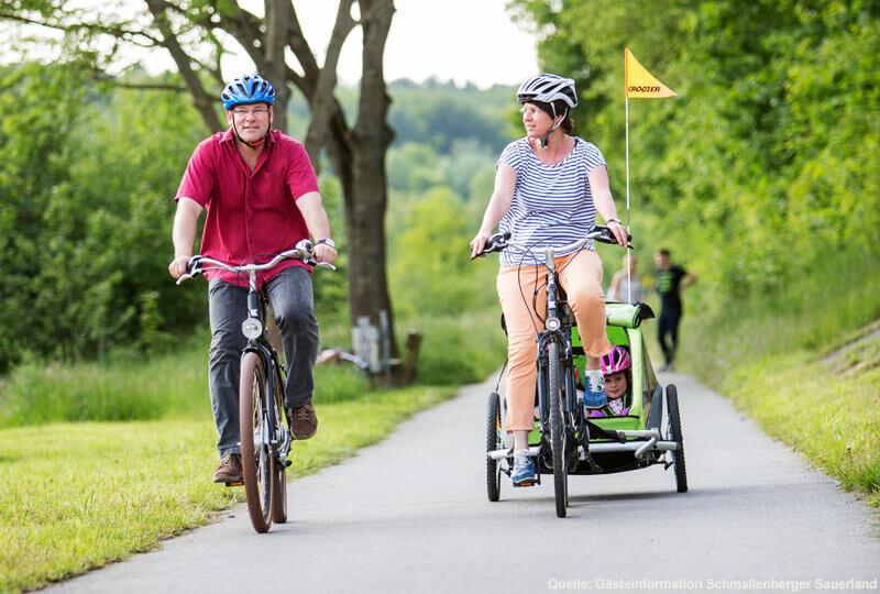 Radfahren mit der Familie - Familienausflug nach Eslohe
