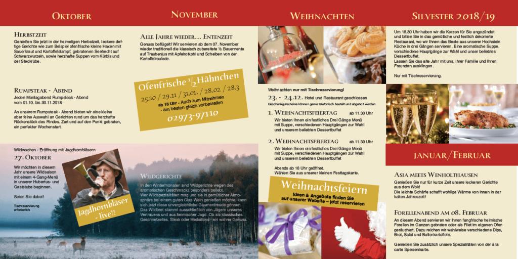 Kulinarischer Kalender im Winter 2018