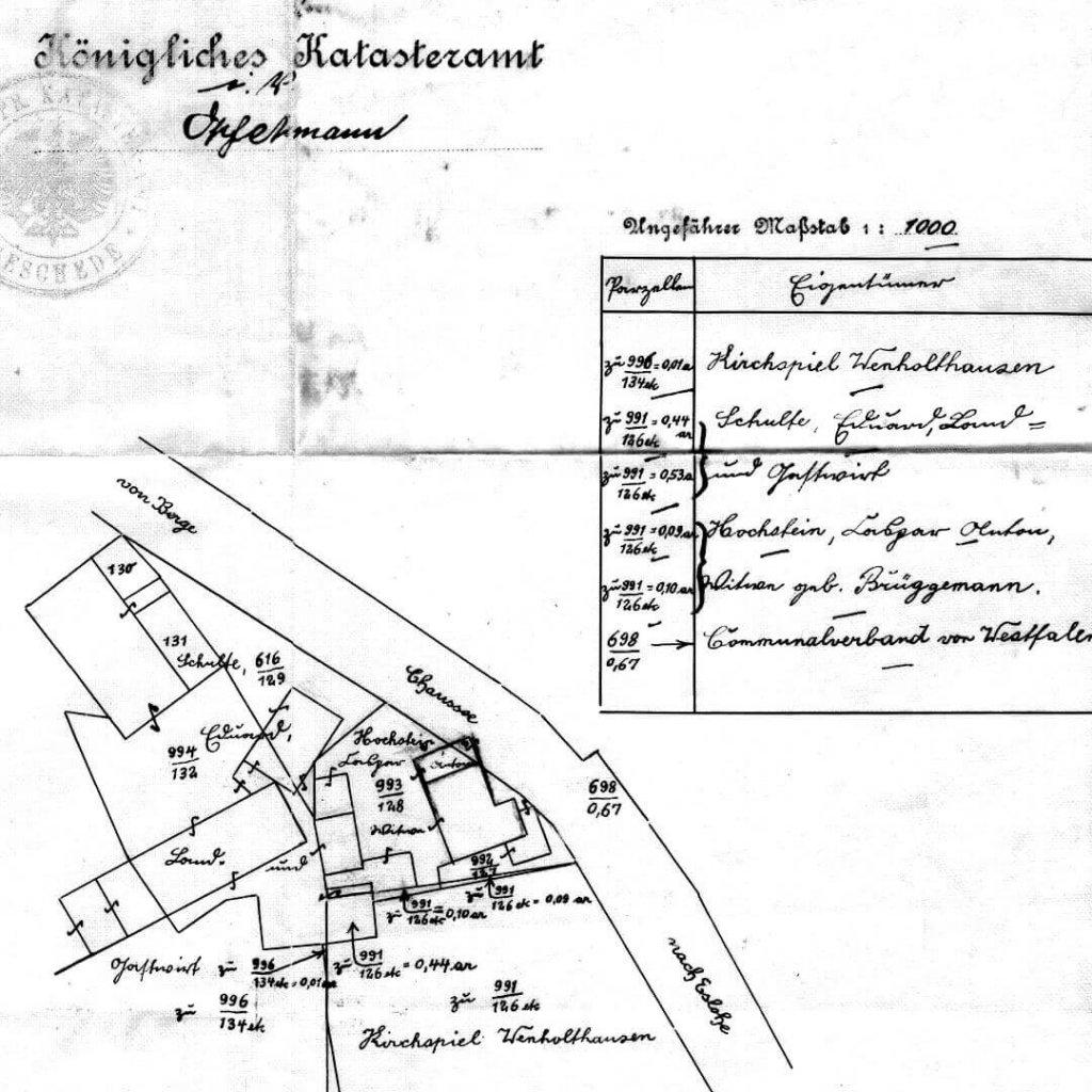 Skizze Umriss Haus Hochstein