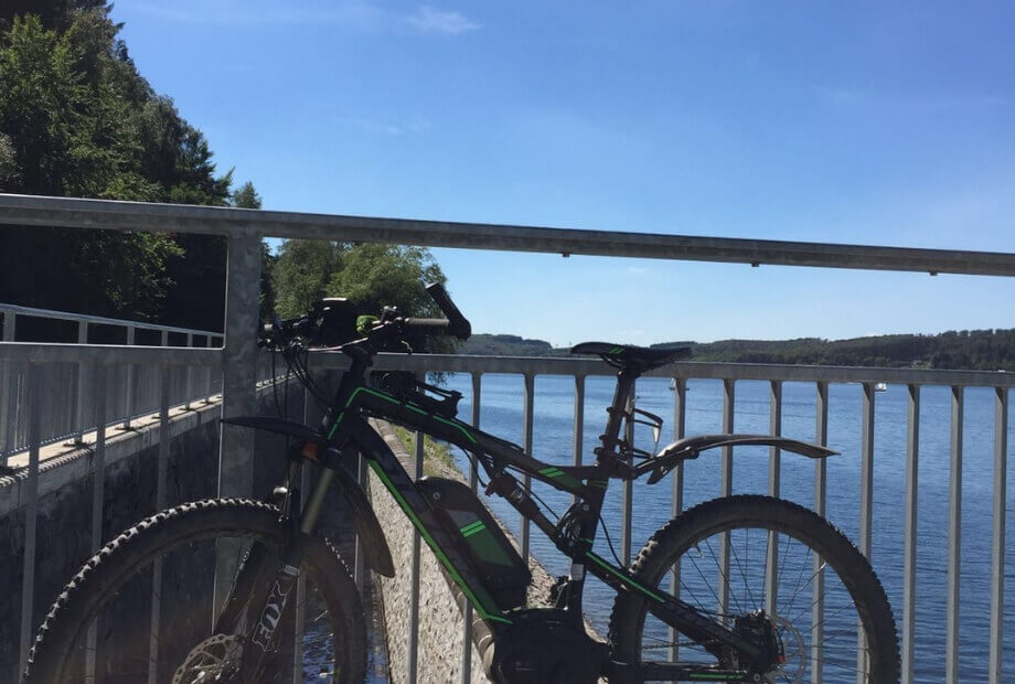 Ausflug mit dem Mountainbike an den Sorpesee
