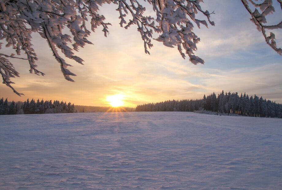 Winterlandschaft im Sauerland - Winterurlaub